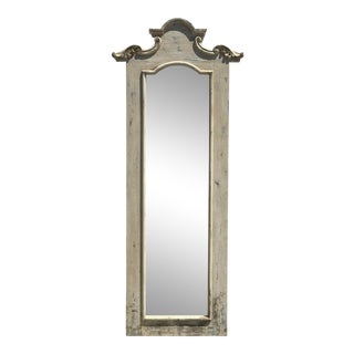 Hand Crafted Tall Wooden Hall Mirror For Sale