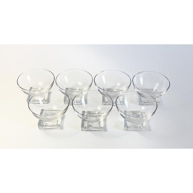 Square Base Champagne Glasses - Set of 7 - Image 2 of 5