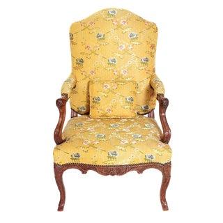 A Early 18th Century Walnut Regence Armchair For Sale