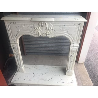 1980s Vintage White Marble Mantle Preview