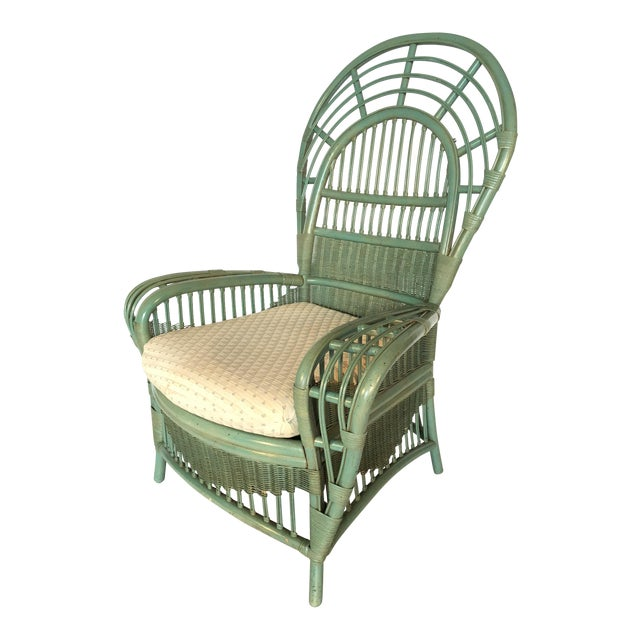Ficks Reed Rattan Bamboo Fan Back Arm Chair - Image 1 of 11