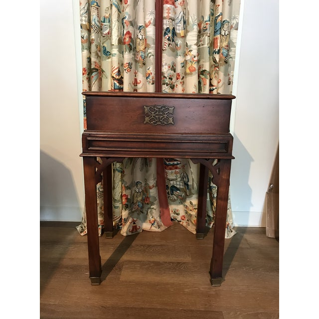 Vintage Reproduction Mahogany Box on Stand For Sale - Image 10 of 10