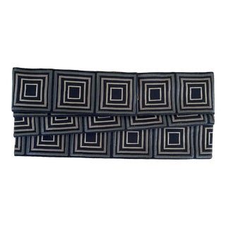 Samuel & Sons Blue Embroidered Trim- 2 Yards For Sale