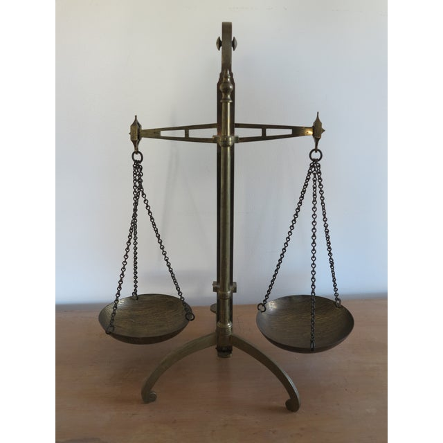 Early 19th Century Early 19th Century Antique English Brass Bankers Scale For Sale - Image 5 of 10