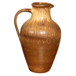 Large Art Pottery Pitcher For Sale