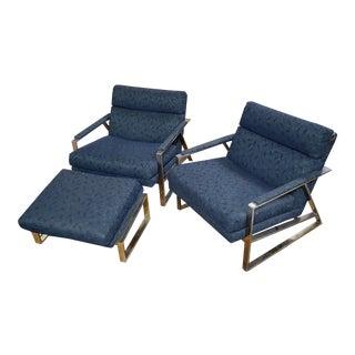 Vintage Milos Baughman for Thayer Coggin Lounge Chairs- 3 Pieces For Sale