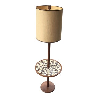 1960s Martz Floor Lamp With Tile Table For Sale
