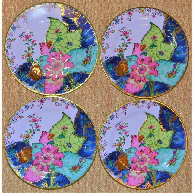 Enamaled Tin Tobacco Leaf Plates - Set of 4 For Sale - Image 13 of 13