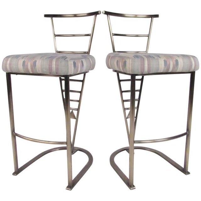 Pair of Contemporary Modern Bar Stools by Dia For Sale - Image 11 of 11