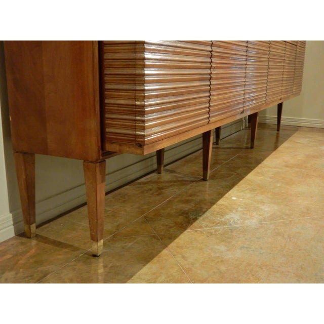 Brown Italian Mid-Century Modern Walnut Bookcase Cabinet by Paolo Buffa For Sale - Image 8 of 11