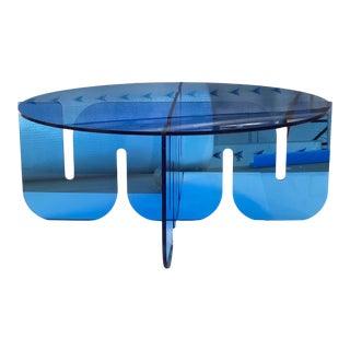 Blue Wave Lucite Table