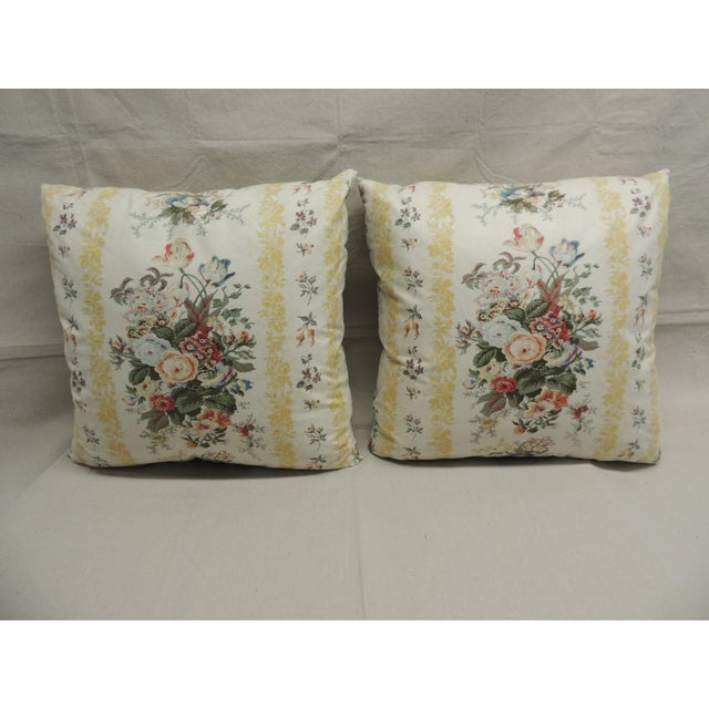 Floral Chintz Pillows - A Pair - Image 2 of 4