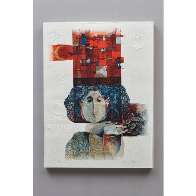 Artist: Alvar Sunol Munoz-Ramos, Spanish (1935) Title: Untitled Medium: Embossed Lithograph, Edition of 60, # 38/60,...