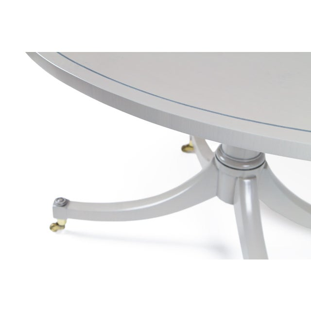 Platinum Gray Duncan Phyfe Oval BakerFurniture Coffee Table For Sale In Seattle - Image 6 of 8