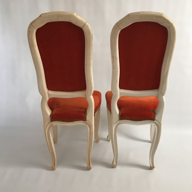 Vintage Upholstered Side Chairs A Pair Image 4 Of 11