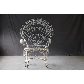 Victorian Lawn Furnishing Style Wrought Iron Peacock Rocking Chair Preview