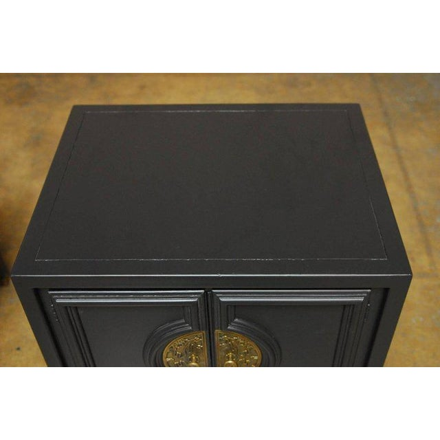 James Mont Style Century Furniture Lacquer Nightstands - a Pair - Image 5 of 10