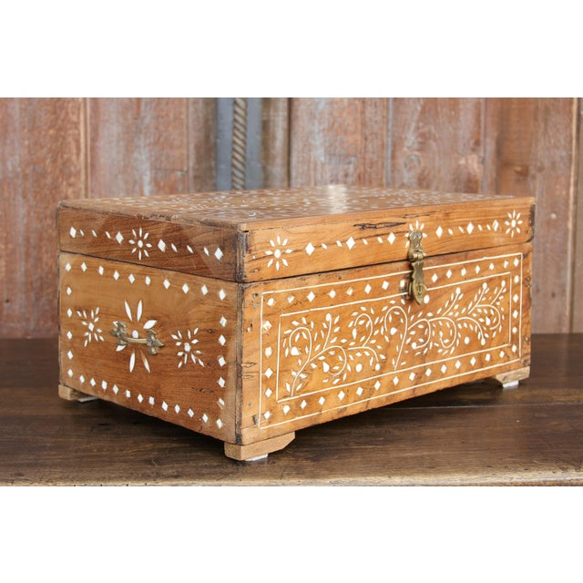 Metal Anglo-Indian Bone Inlay Document Box For Sale - Image 7 of 10