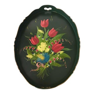 Dutch Floral Assendelfter Style Tray Art For Sale