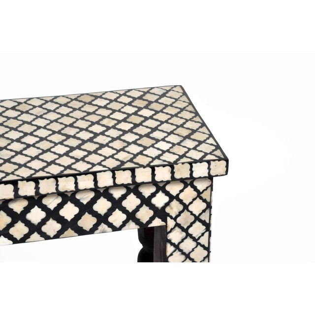 Bone Inlay Console Table For Sale - Image 9 of 13