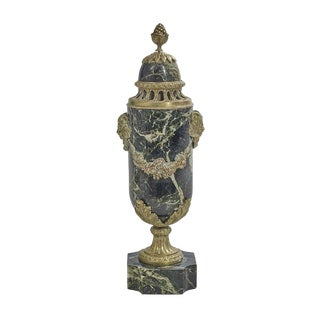 French Marble and Bronze Covered Urn For Sale