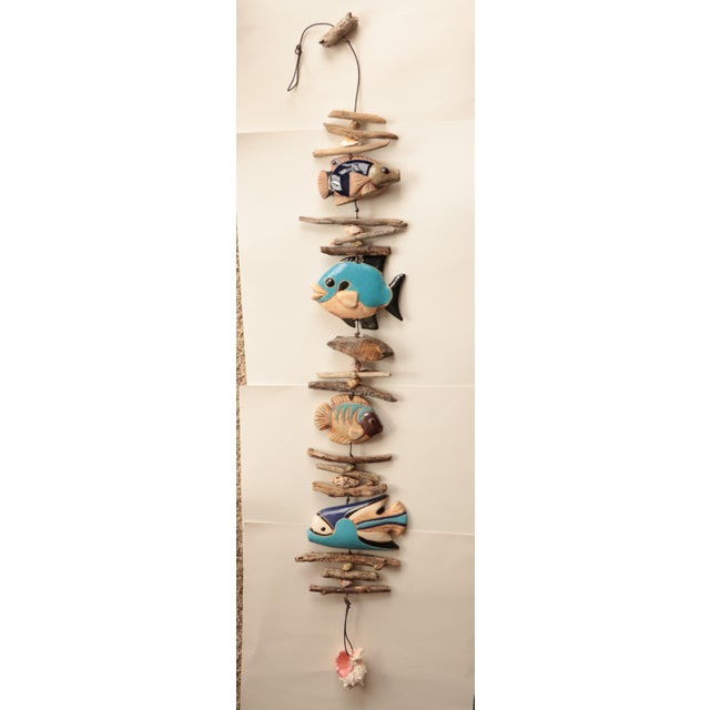 Hazel Olsen Driftwood and Pottery Fish Windchime For Sale In Madison - Image 6 of 6