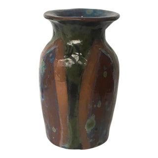 Vintage Organic Modern Studio Pottery Vase For Sale