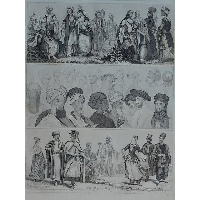 Antique Print Different Races & Cultures - Image 2 of 3