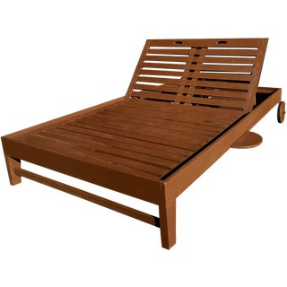 Contemporary Monumental Double Outdoor Pool Lounger