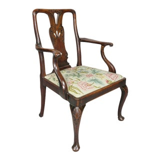 George II Walnut Armchair For Sale