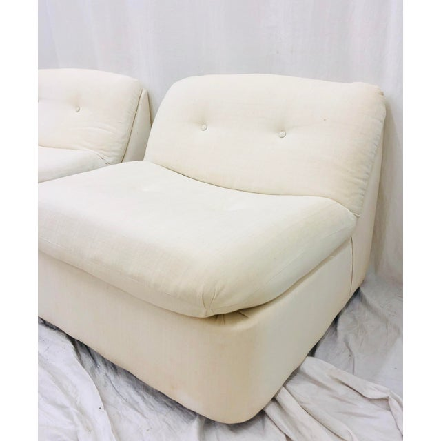 White Vintage Contemporary Modern Slipper Chairs For Sale - Image 8 of 13