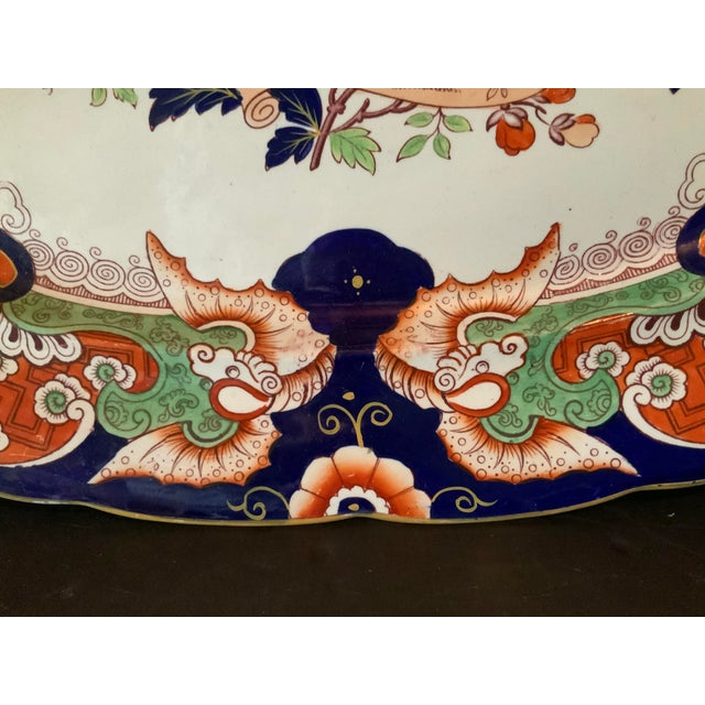 Ironstone China Antique Ironstone China Hand Painted Platter For Sale - Image 4 of 9