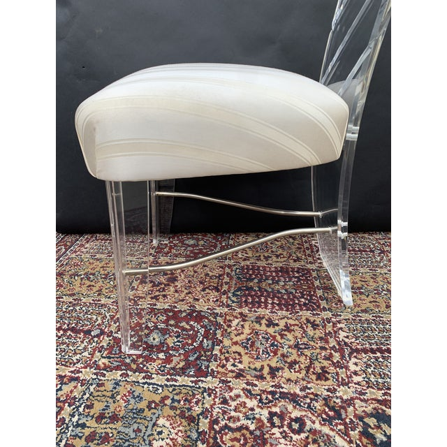 Transparent Lucite and Glass Dining Set - 7 Pieces For Sale - Image 8 of 10