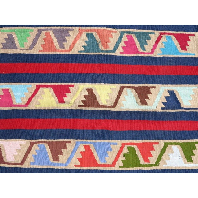 Acrylic Vintage Turkish Kilim Runner Rug For Sale - Image 7 of 10