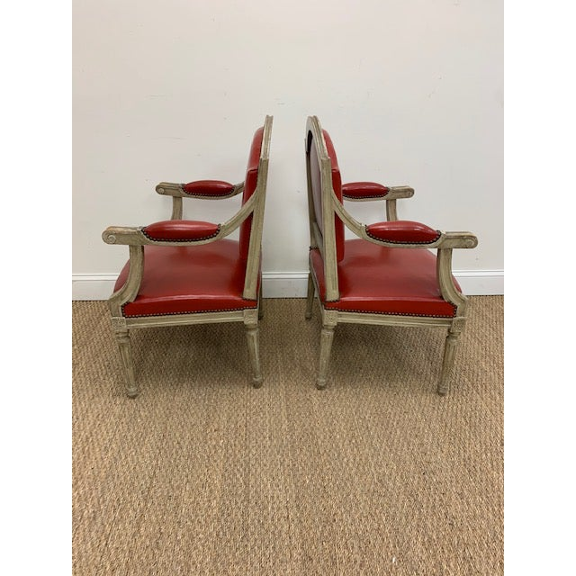 19th Century French Louis XVI Fauteuils Style Chairs - a Pair For Sale In Washington DC - Image 6 of 13