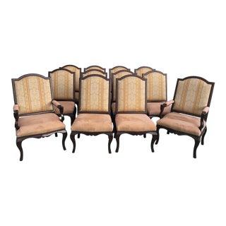 Henredon Upholstered Ralph Lauren Dining Chairs - Set of 12 For Sale