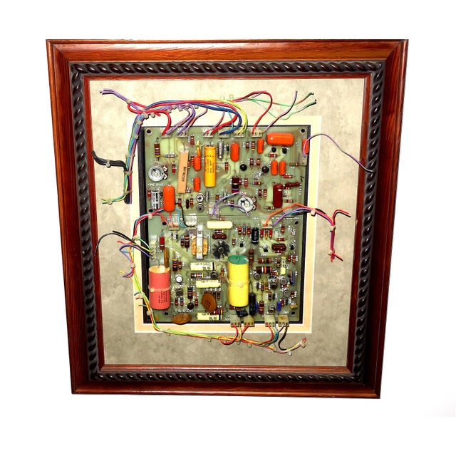 Mid Century Component Art Wall Sculpture by Bill Reiter. Wood Framed & Matted. For Sale - Image 13 of 13
