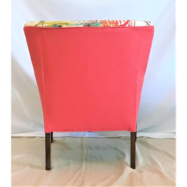 Mid Century Robert Allen Chinoiserie Armchair For Sale - Image 4 of 6