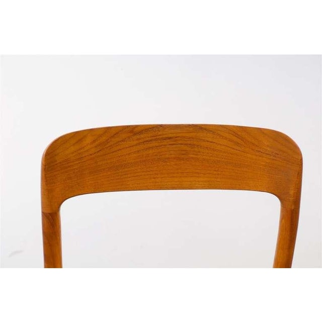 Stellar Original Set of Eight Moller #75 Chairs in Teak For Sale - Image 10 of 10