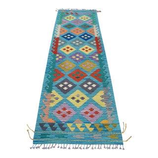 Tukish Handwoven Kilim Rug Runner For Sale