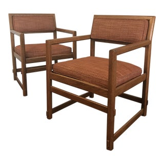 1960s Vintage Edward Wormley for Dunbar Club Chairs- A Pair For Sale