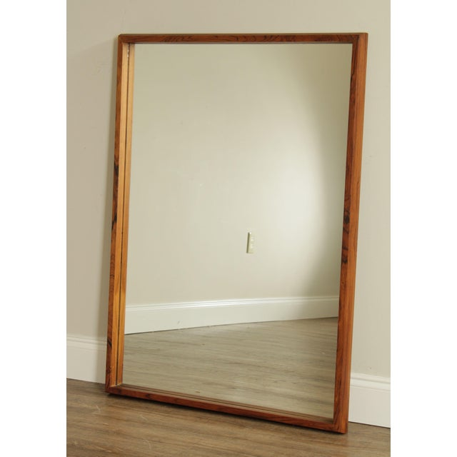 High Quality Solid Rosewood Frame Vintage Mirror Made in Denmark (Not Labeled) Store Item#: 25762 This item includes...