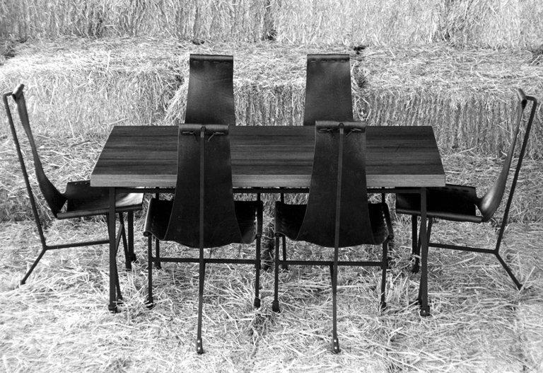 Set Of Ten Dan Wenger Tripod Dining Chairs   Image 3 Of 4