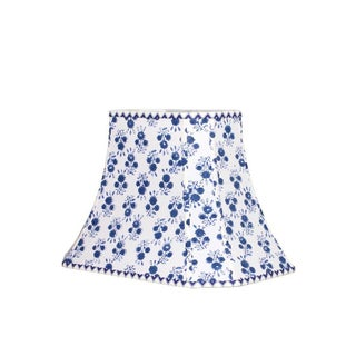 Blue and White Floral Block Print Lamp Shade Preview