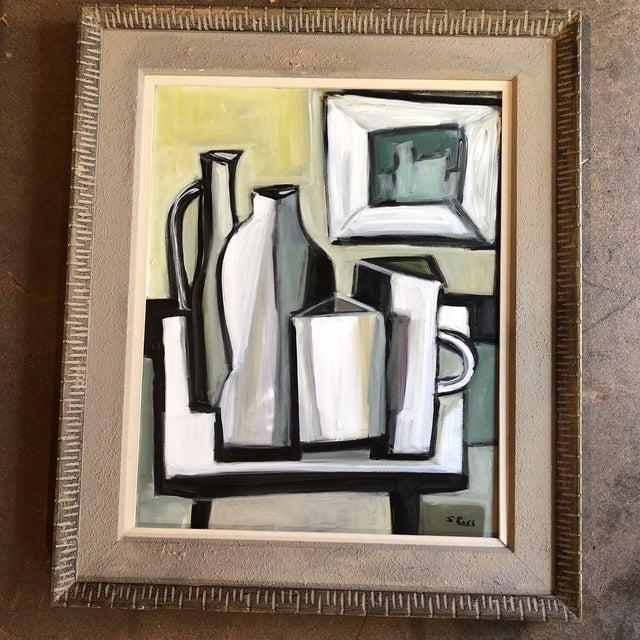 Original Stewart Ross Modernist Still Life Painting For Sale In Philadelphia - Image 6 of 6