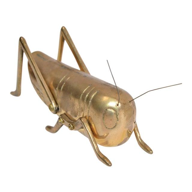 Italian Mid-Century Modern Brass Grasshopper Sculpture, Animal Sculpture 1970 For Sale