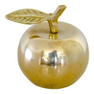 Vintage Brass Apple Bell For Sale