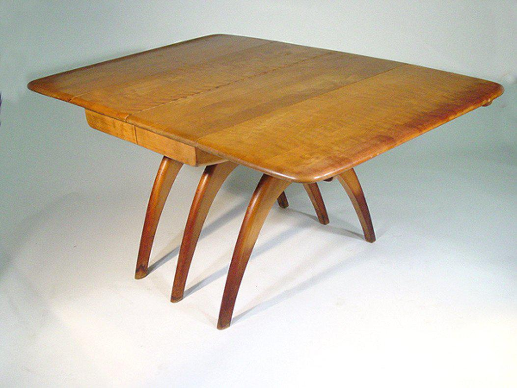 Heywood Wakefield Butterfly Drop Leaf Wishbone Dining Table   Image 2 Of 8
