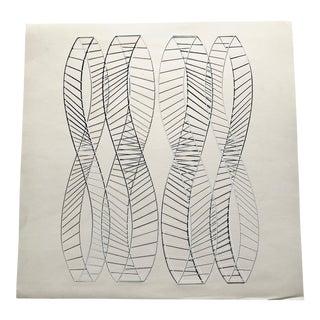 1965 Abstract Wybrand Ganzevoort Composition Silkscreen For Sale