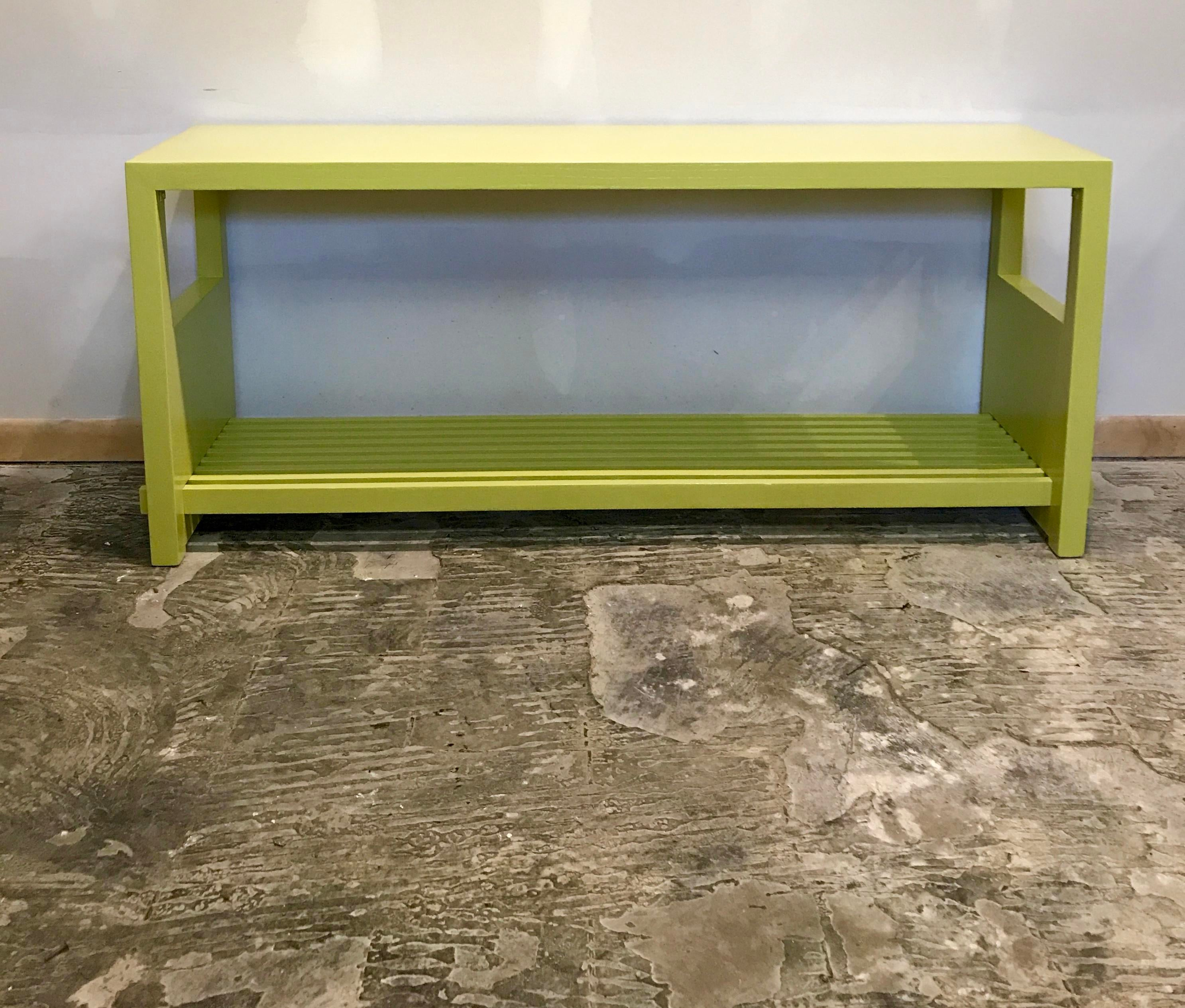 A Simple Console Table That Has Been Taken To New Heights With A Fresh Coat  Of